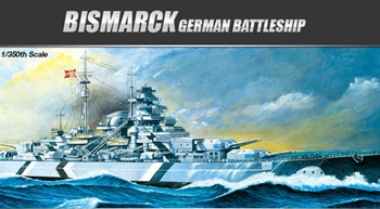 BISMARCK German Battleship, escala 1/350.