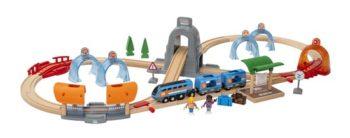 Set ferroviario interactivo de 37 piezas.