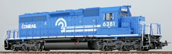 Locomotora Diesel SD40-2 Conrail 6381, época IV.