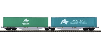 Set de dos plataformas contenedores ACOTRAL