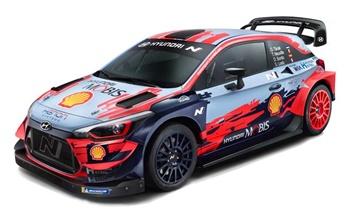 Hyundai i20 coupé WRC. Escala 1/10.
