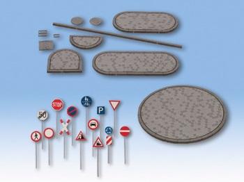 Set de decoración de carretera.