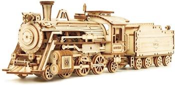 Locomotora de tren. Kit de madera.
