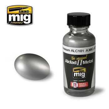 Pintura metálica color aluminio, 30ml.
