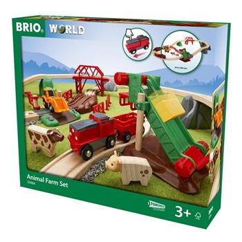 Set Iniciación granja. Incluye vías, tren y animales.