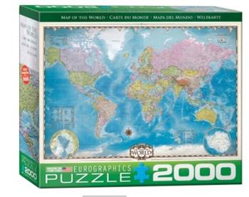Mapa del mundo, 2000 piezas.