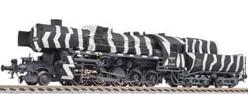 Locomotora vapor BR52 DRB camuflaje invierno.