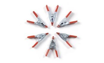 Set de 6 mini pinzas metálicas multiusos, 50mm.