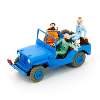 Jeep color azul.