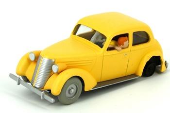 Coche de colección Tintín el coche amarillo estrellado.