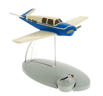 Avión azul Kidnappeurs de AFFAIRE TOURNESOL.