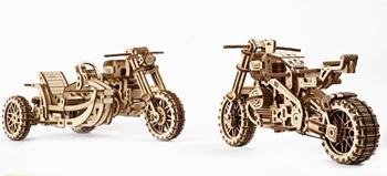Moto Scrambler UGR-10 con sidecar, 380 piezas.