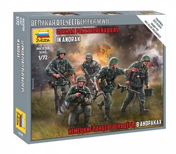 German panzergrenadiers in anorak. Escala 1/72.