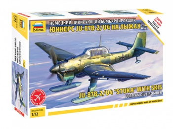 JU-87B-2/U4 STUKA CON SKIS German, escala 1/72.