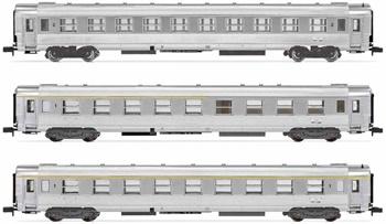 Set de tres coches DEV Inox SNCF La Mouette.