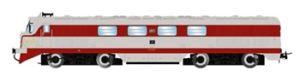 Locomotora Diesel RENFE 2008T Virgen de la Soledad. Envejecida a mano.