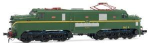 Locomotora eléctrica RENFE 277.047. Envejecida a mano.