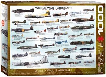 World War II Aircraft, 1000 piezas.