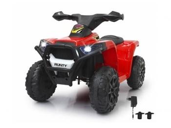 Ride on Mini Quad Runty color rojo.