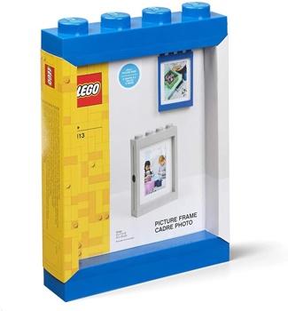 Marco foto LEGO color azul.