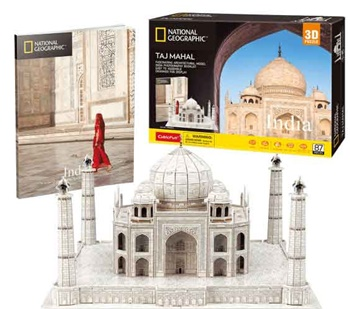 Taj Mahal, India. Puzzle 3D.
