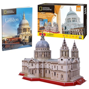 London St. Paul Cathedral. Puzzle 3D.