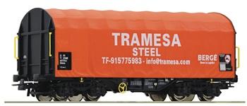 Vagón de lonas corredizas, tipo Shimmns, de la Tramesa Steel.