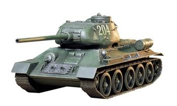 T34/85 Russian medium tank, kit escala 1/35.