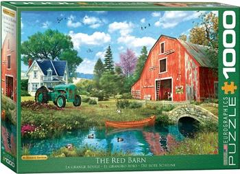 El granero rojo, 1000 piezas.