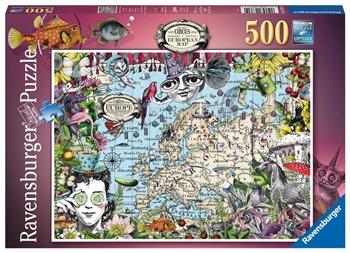 Mapa europeo, circo peculiar, 500 piezas.