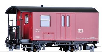 Vagón de mercancías HSB, época IV. Escala HOe.