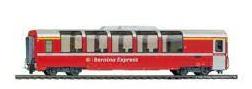Coche pasajeros RhB Bp2506 Bernina Express.