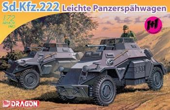 Sd. Kfz. 222. Kit d eplástico escala 1/72.