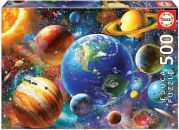 Sistema solar, puzzle de 500 piezas. Medida: 48x34cm.