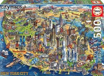 Mapa de Nueva York, puzzle de 500 piezas.