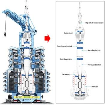 Base de lanzamiento, kit de construcción con 2221 piezas.