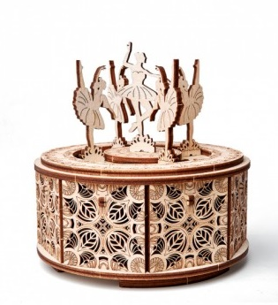 Caja de música Bailarinas. Kit de madera.