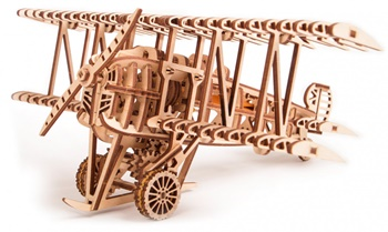 Avión antiguo, kit de madera para construir.