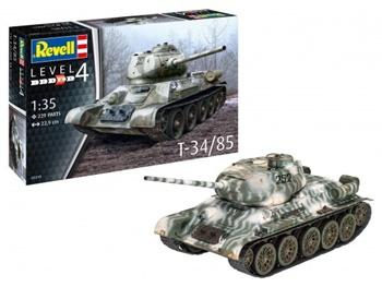 T-34/85. Kit de plástico escala 1/35.