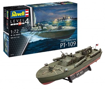 PT-109 Patrol Torpedo Boat. Kit de plástico escala 1/72.
