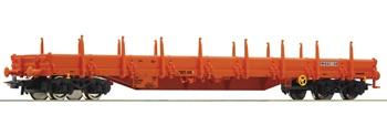 Vagón de plataforma con teleros Wascosa