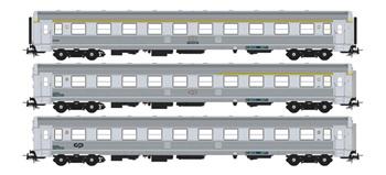 Set de tres coches pasajeros Rapido 80.