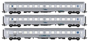 Set de tres coches pasajeros Inter Regional 90.
