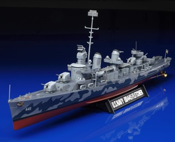 U.S. Destroyer DD445 Fletcher. Kit de plástico escala 1/350.
