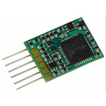 Mini decoder 0.8A, 6 funciones, 6 pins NEM 651.