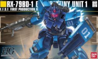 HG RX-79BD-1 Blue destiny unit 1, escala 1/144.