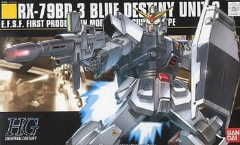 HG RX-79BD-3 Blue destiny unit 3, escala 1/144.