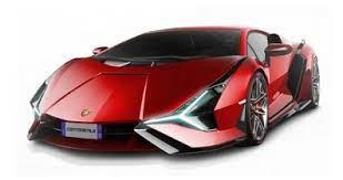 Lamborghini Sian FKP 37 color rojo.