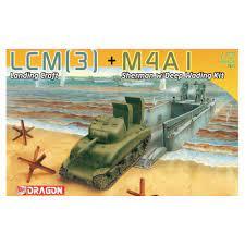 LCM (3) Landing craft + M4A1 Sherman. Kit de plástico escala 1/72.