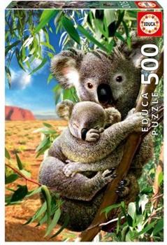 Koala con su cachorro, 500 piezas.